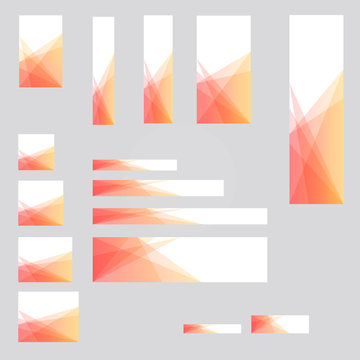 15 different sized banners background template design for desktop and mobile ads.