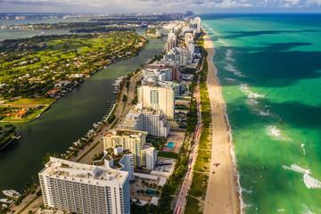 High above Miami Beach aerial photography