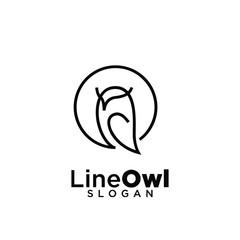 owl line logo icon design vector illustration