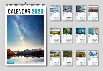 Annual Wall Calendar Layout