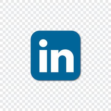 Linkedin logo on a transparent background