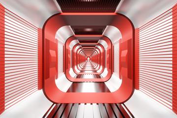 Spaceship Hallway render