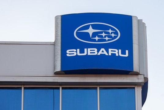 Subaru dealership sign