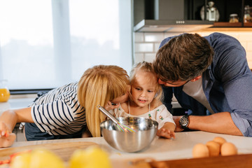 Making food together as a family is a simple joy