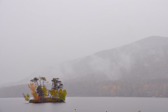 Tiny Island in the Mist