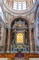 Holy Mary altar inside catholic church in Italy