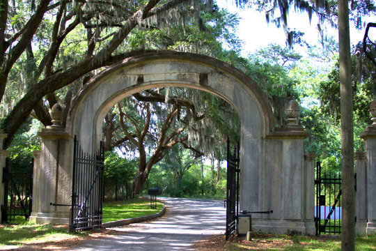 A breathtaking avenue sheltered by live oaks and Spanish moss leads to the tabby ruins of Wormsloe,