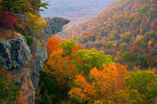 Hawksbill Crag Sunrise in the Fall