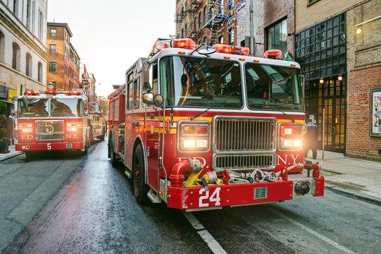 New York fire trucks