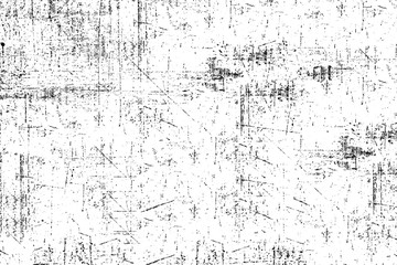 Grunge background black and white. Monochrome texture. Vector pattern of cracks, chips, scuffs. Abstract vintage surface