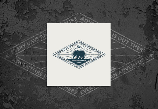 Vintage Typography Bear Logo Layout