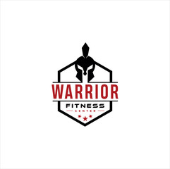 Spartan Fitness And Gym Logo Vector  . Fitness Logo . Bodybuilding Logo design inspiration