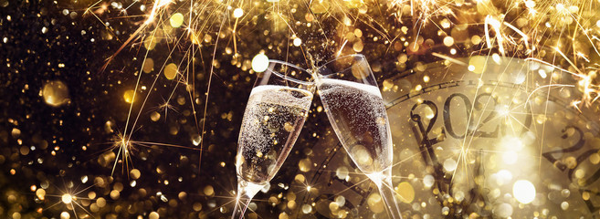 New Year's Eve 2020 Celebration Background