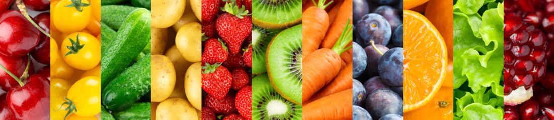 Spoed Foto op Canvas Keuken Fruits and vegetables. Background