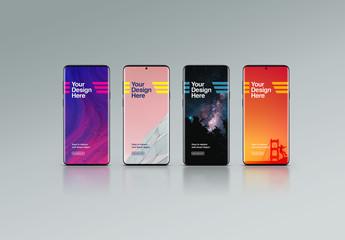 4 Smartphone Mockups