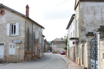 houses in an old Burgundian village
