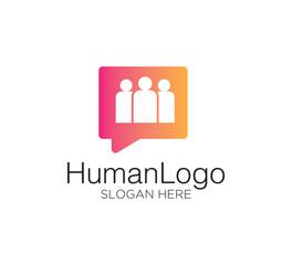 people human logo design concept