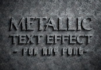 Corroded Metal Text Effect