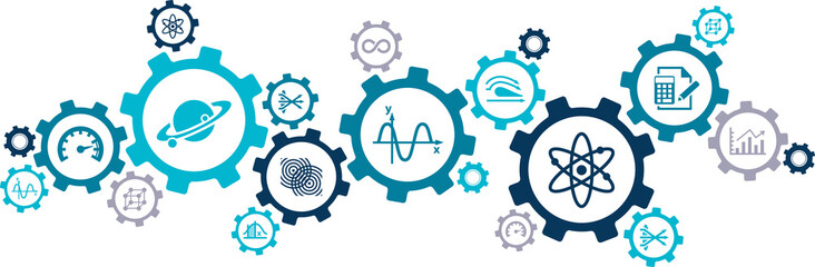 physics & engineering science concept / science education - vector illustration