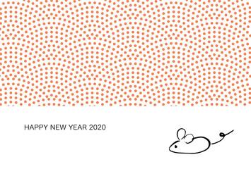 年賀状、年賀状2020、2020、年賀はがき、シンプル、はがきテンプレート