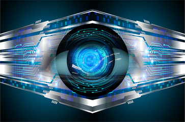 Blue eye cyber circuit future technology concept background Wall mural