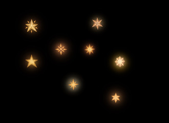 stars isolated on black background