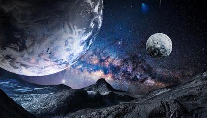 science fiction cosmic planet background Fototapete