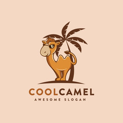 Mascot cartoon Camel logo icon