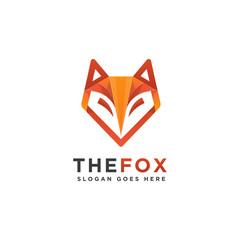 Abstract geometric Fox logo vector