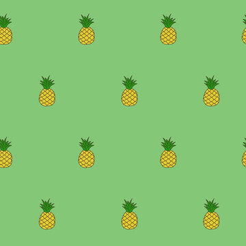 Wrapping paper - Seamless pattern of pineapple, fruit, christmas and winter holiday for vector graphic design