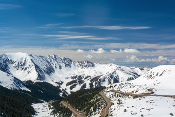 Fototapeta Loveland Pass and Arapahoe Basin Ski Area in the Colorado Rockies obraz