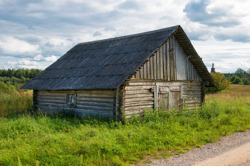 Old barn in the village
