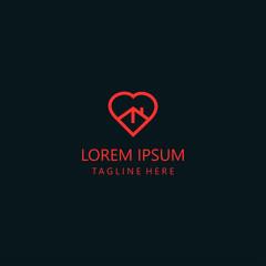 Heart Home  Logo Vector Design Template