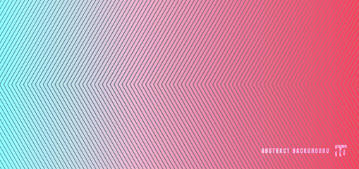 Abstract blue and pink gradient background with diagonal lines pattern texture. Fototapete