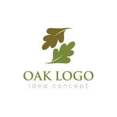 Oak Leaf Vector Logo Template