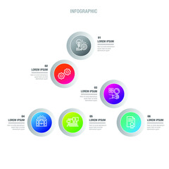 Abstract infographics icon options template. Vector illustration. Can be used for workflow layout, diagram, business step options, banner, web design