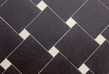tiled texture, background with black and white square tiles, lines