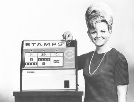 New Post Office Department stamp vending machine to be tested in Washington D.C. Betty Johnson