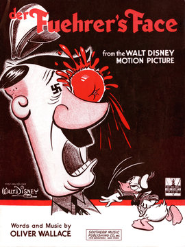 Der Fuehrer's Face, sheet music for the song by Oliver Wallace from the Walt Disney cartoon, 1942