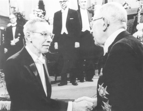Dr. Alfred D. Hershey, 60, awarded 1969 Nobel Prize for Medicine. He shared the prize with Dr