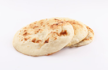 nan bread on whit background