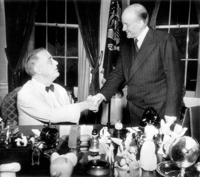 President Franklin D. Roosevelt, meets Polish Premier Stanislaw Mikolajczyk, in Washington
