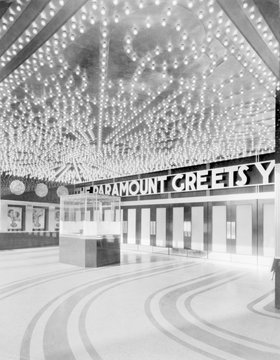 Movie Theaters, The Paramount Theatre, interior, ticket booth, 2025 Broadway, Oakland, California, circa 1932