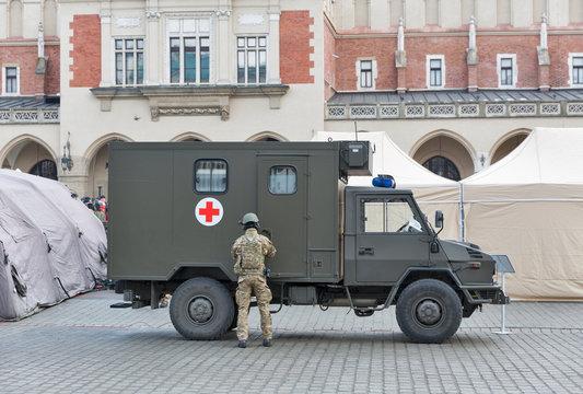 Secure Poland NATO welcome ceremony in Krakow, Poland.