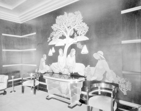 Movie Theaters, the Paramount Theatre, women's smoking room in basement, 2025 Broadway, Oakland, California, circa 1932