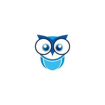 owl logo design vector template white background