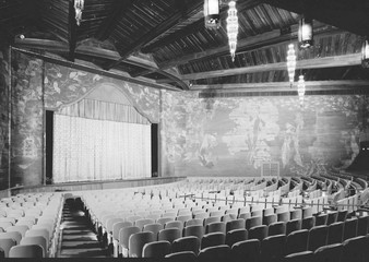 Movie Theaters, the Paramount Theatre, interior, built in 1926, Sunrise Avenue & North County Road, Palm Beach, Florida, circa 1970s