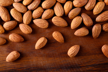 Almonds. Almond background.