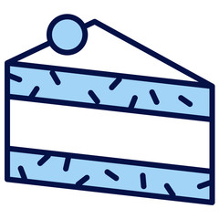 Kuchen, Schwarzwälder Kirschtorte Vector Icon Illustration