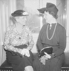 Marion Glass Banister (left), Assistant U.S. Treasurer, and Mrs. Nellie Taylor Ross, Director